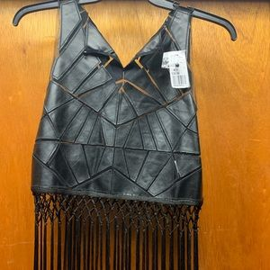 BRAND NEW TRIBAL FRINGED CROP TOP SIZE M